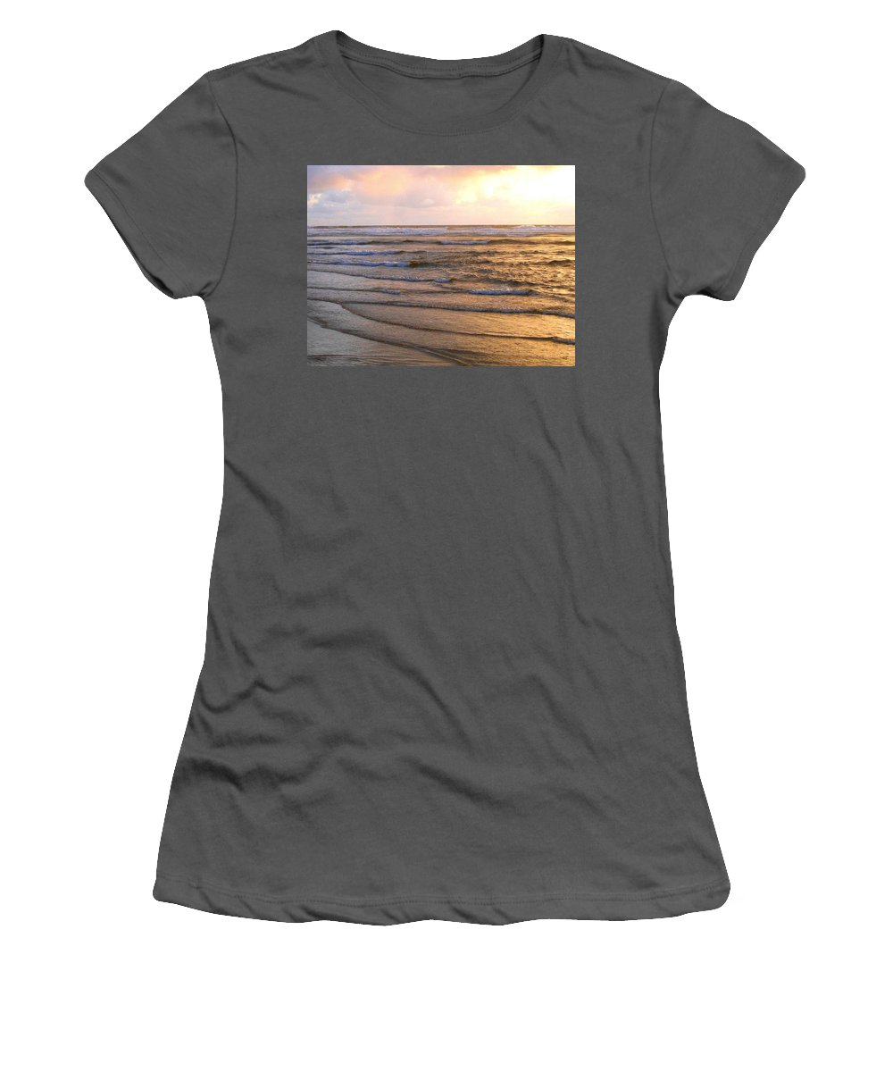 Sunset Women's T-Shirt (Athletic Fit) featuring the photograph Copper Shores by Will Borden