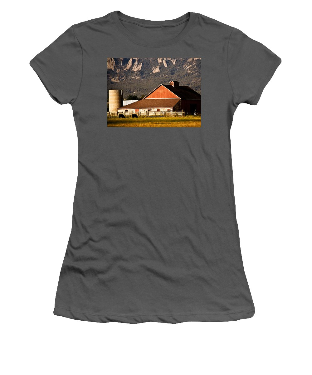 Americana Women's T-Shirt (Athletic Fit) featuring the photograph Country Living Boulder County by Marilyn Hunt