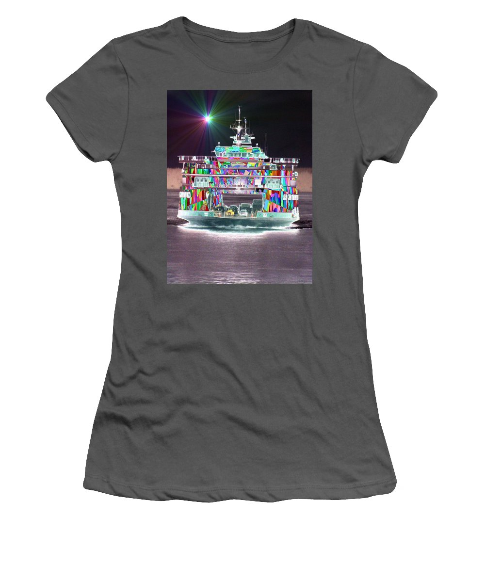 Abstract Women's T-Shirt (Athletic Fit) featuring the photograph Cruisin by Tim Allen