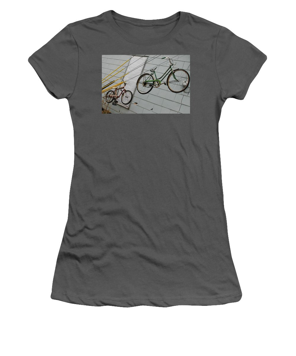 Color Photography Women's T-Shirt (Athletic Fit) featuring the photograph Cycles by Kirk Griffith