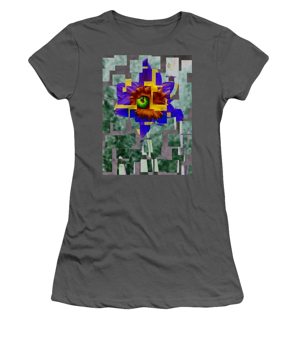 Daffodil Women's T-Shirt (Athletic Fit) featuring the photograph Daffodil 3 by Tim Allen