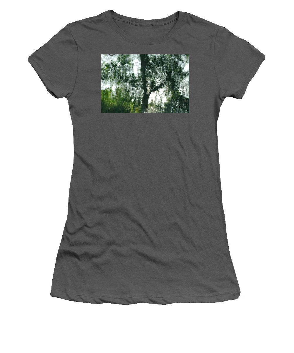 Water Women's T-Shirt (Athletic Fit) featuring the photograph Dancing Trees by Donna Blackhall