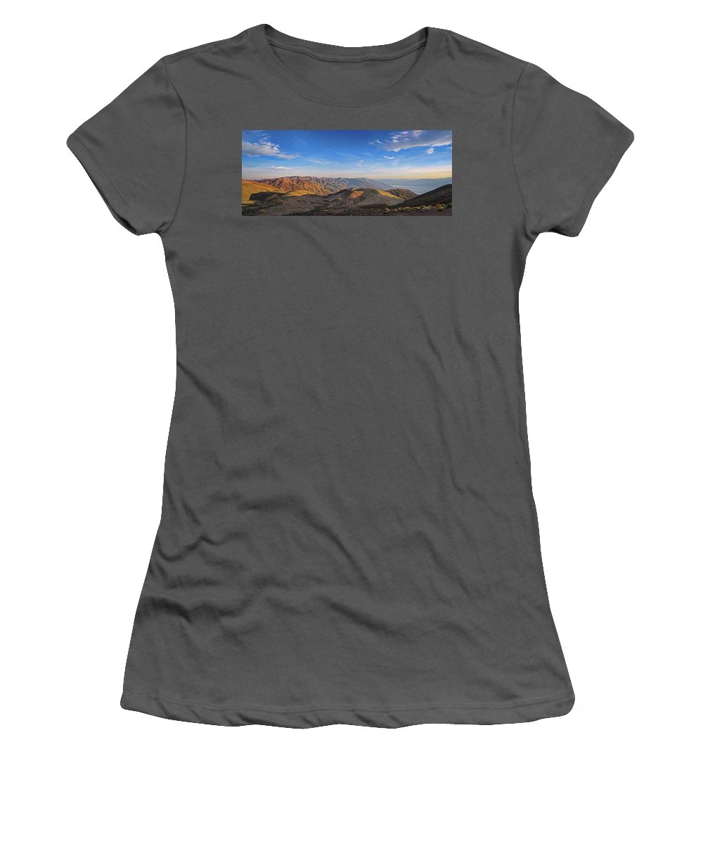 Dante's View Women's T-Shirt (Athletic Fit) featuring the photograph Dante's View by Theo O'Connor