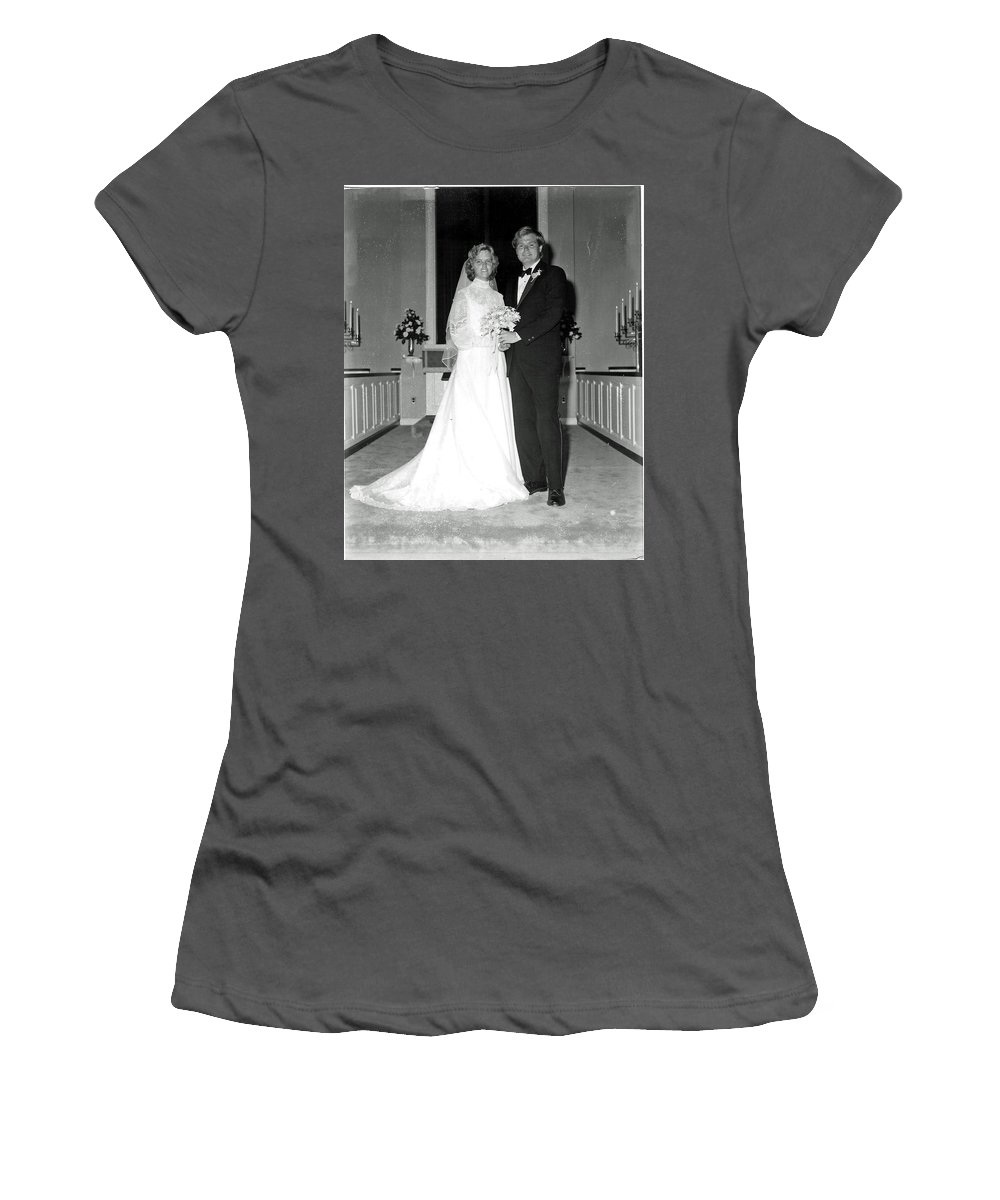 Wedding Women's T-Shirt (Athletic Fit) featuring the photograph Deb And John by John Graziani