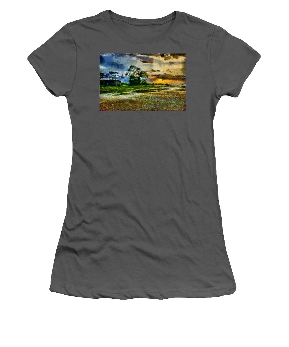 Desert Women's T-Shirt (Athletic Fit) featuring the photograph Desertic Sunset by Galeria Trompiz