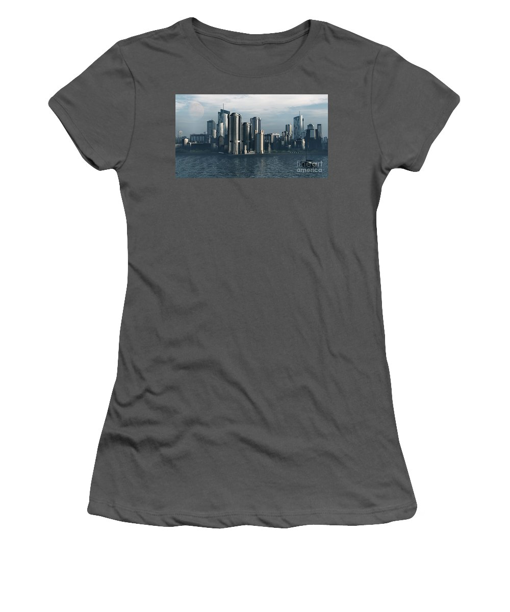Futurism Women's T-Shirt (Athletic Fit) featuring the digital art Destiny by Richard Rizzo