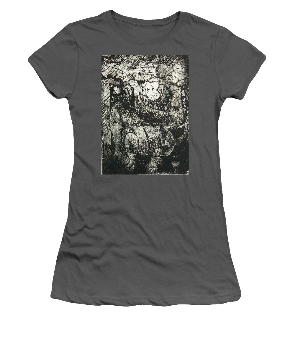 Etching Women's T-Shirt (Athletic Fit) featuring the print Destroy Plate by Thomas Valentine