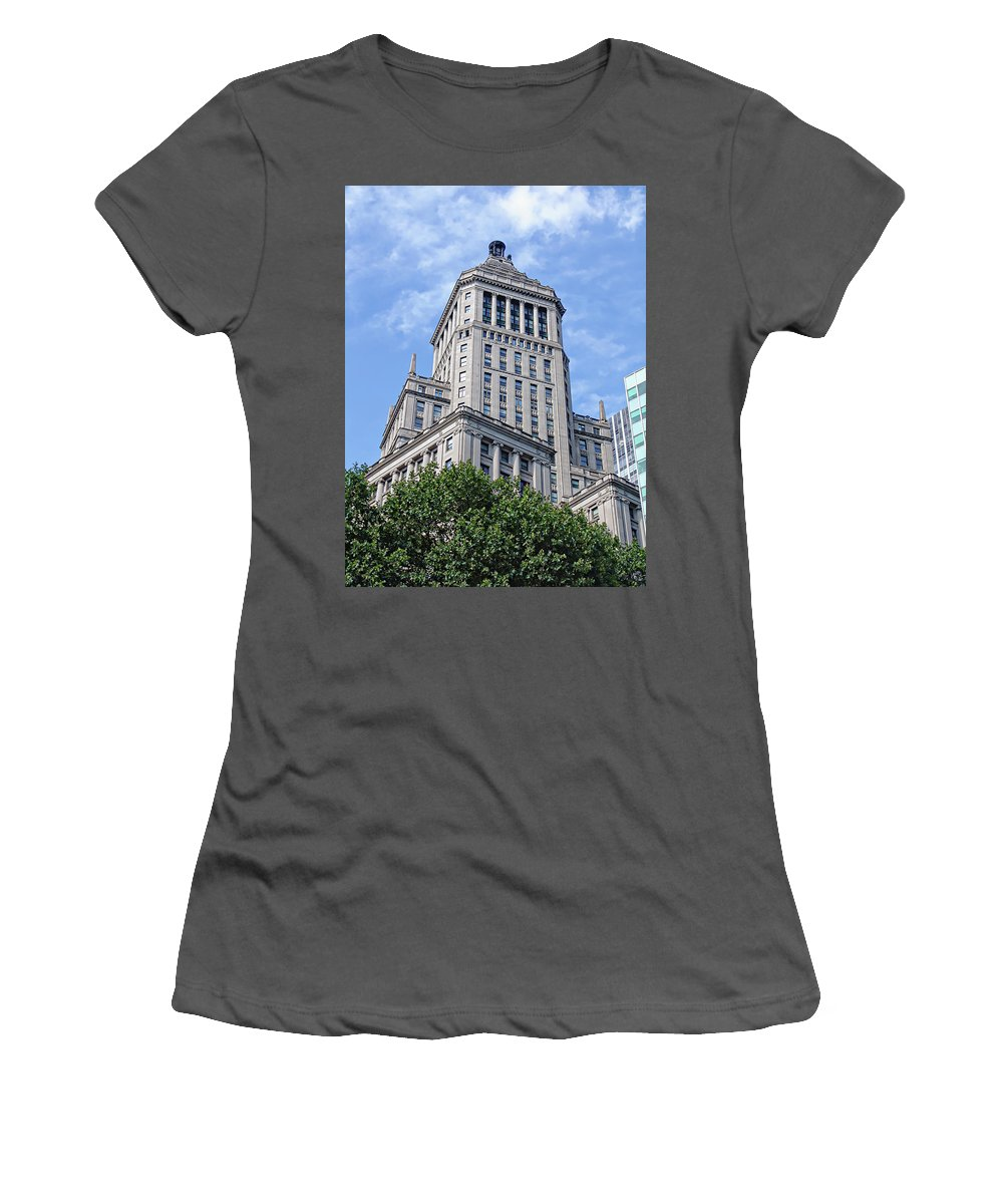 26 Broadway Women's T-Shirt (Athletic Fit) featuring the photograph diEyeSpyArtNYC Architecture 00010 by Di Designs