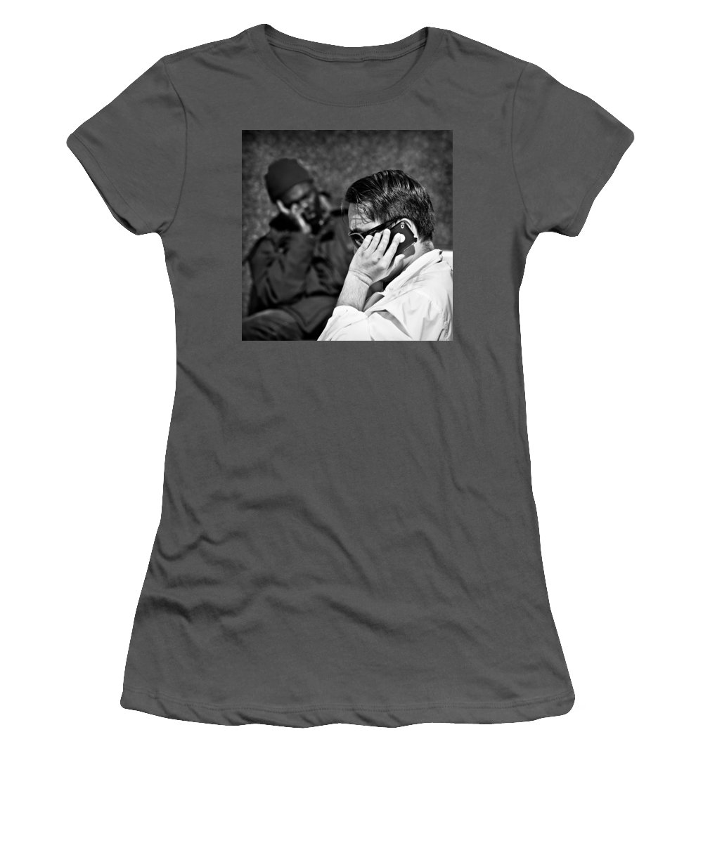 People Women's T-Shirt (Athletic Fit) featuring the photograph Different Lives by Dave Bowman