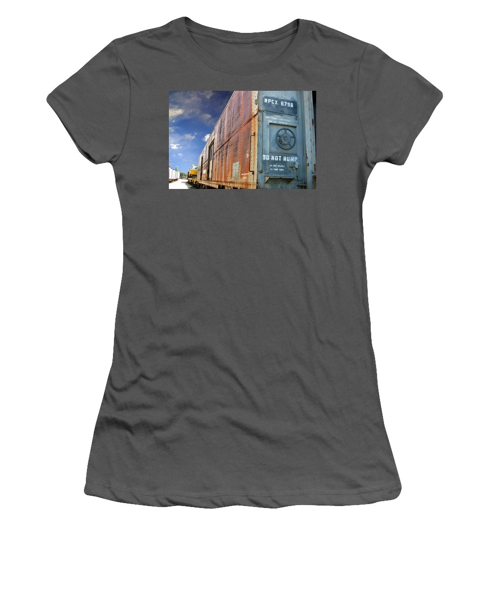 Do Not Hump Women's T-Shirt (Athletic Fit) featuring the photograph Do Not Hump by Anthony Jones