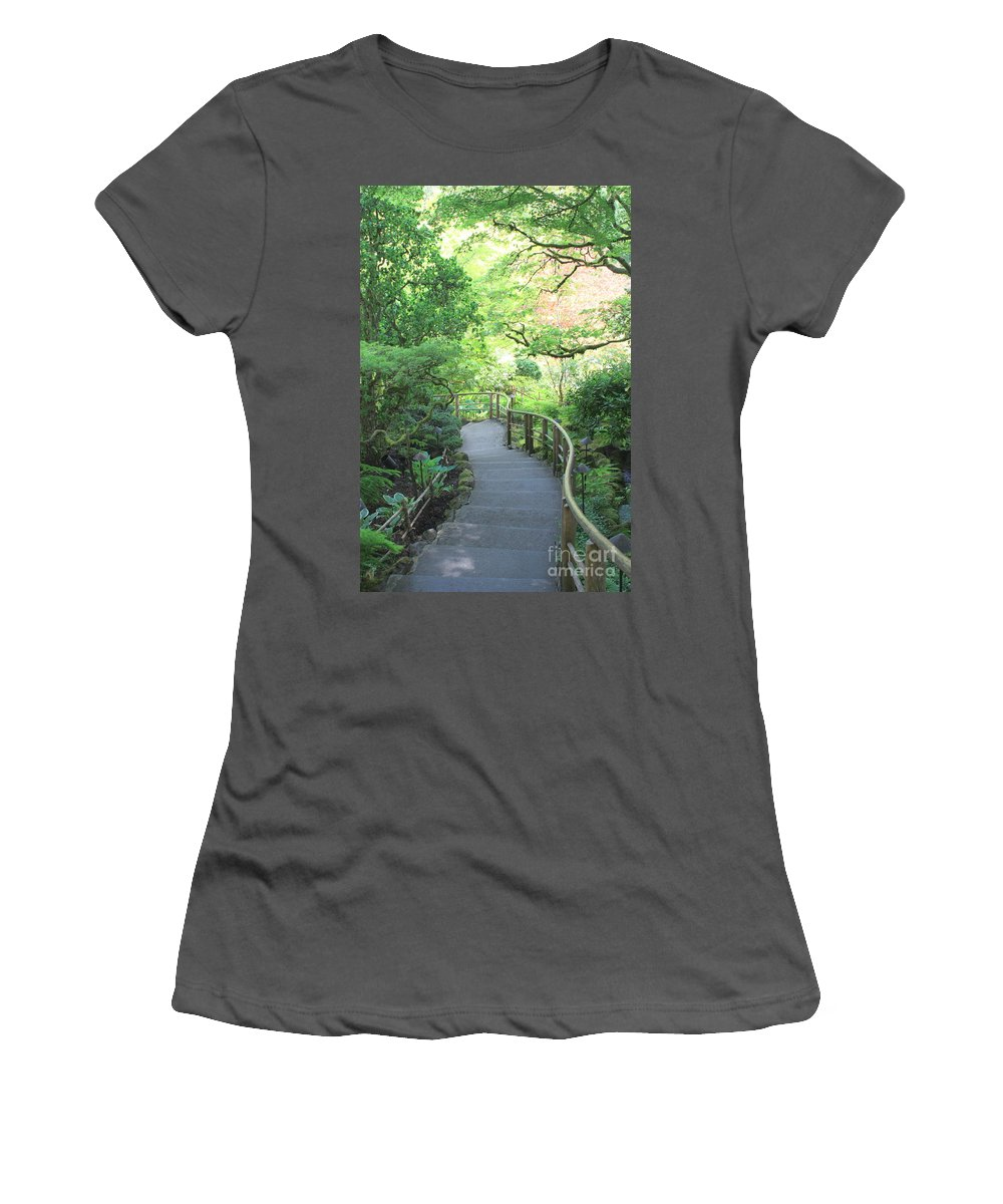 Garden Women's T-Shirt (Athletic Fit) featuring the photograph Down To The Garden by Carol Groenen