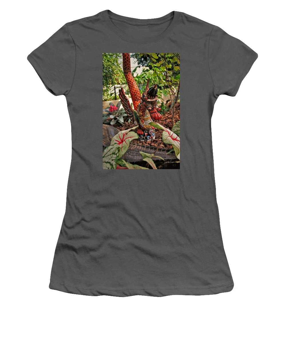 Mount Rushmore Women's T-Shirt (Athletic Fit) featuring the photograph Dragon by Mike Oistad