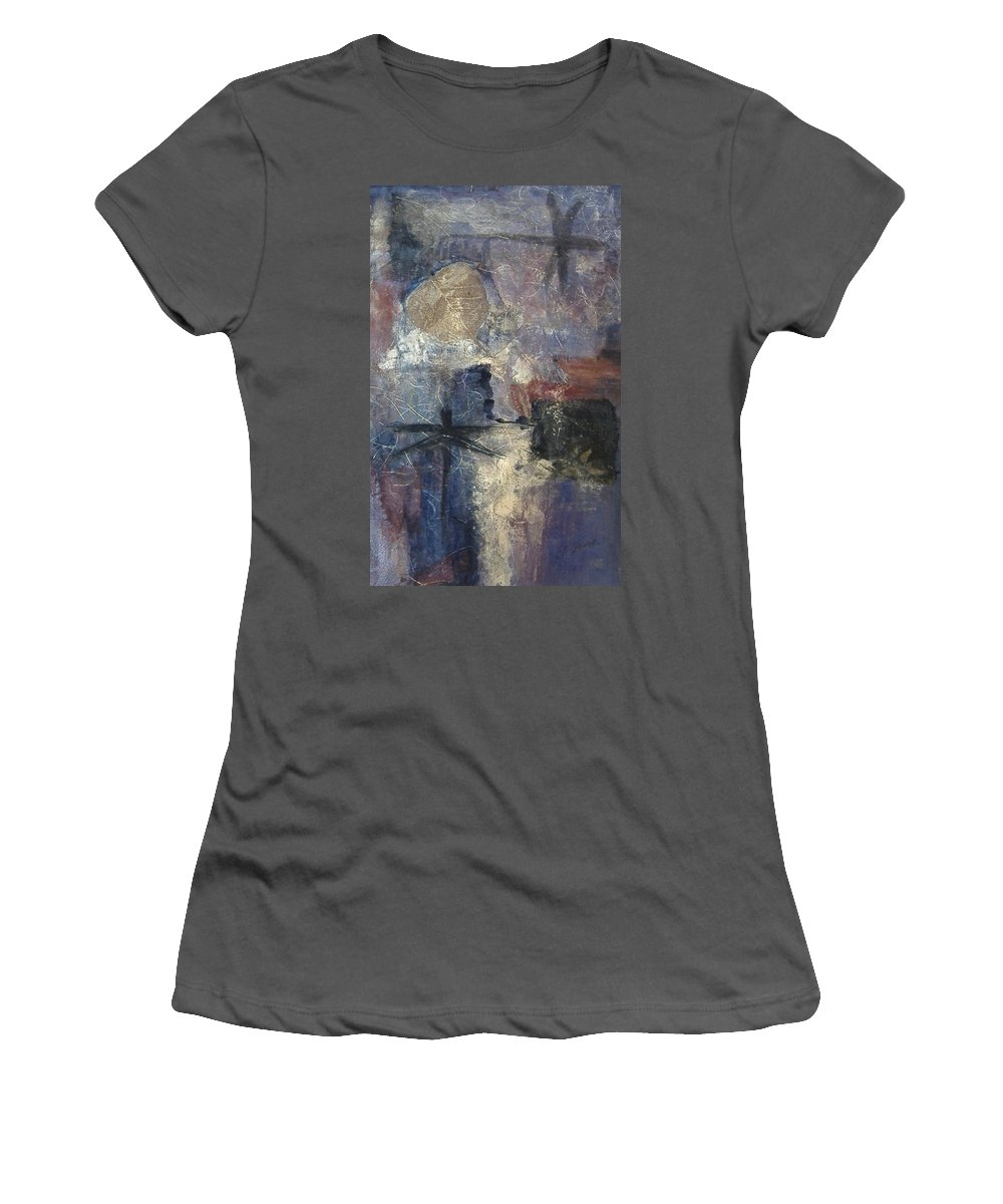Collage Women's T-Shirt (Athletic Fit) featuring the mixed media Dragonflies by Pat Snook