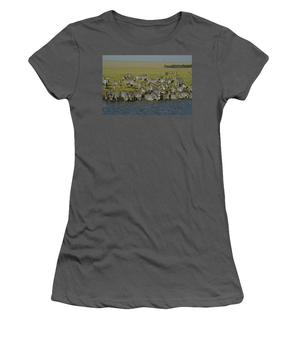 Africa Women's T-Shirt (Athletic Fit) featuring the photograph Drawn To Water by Michele Burgess