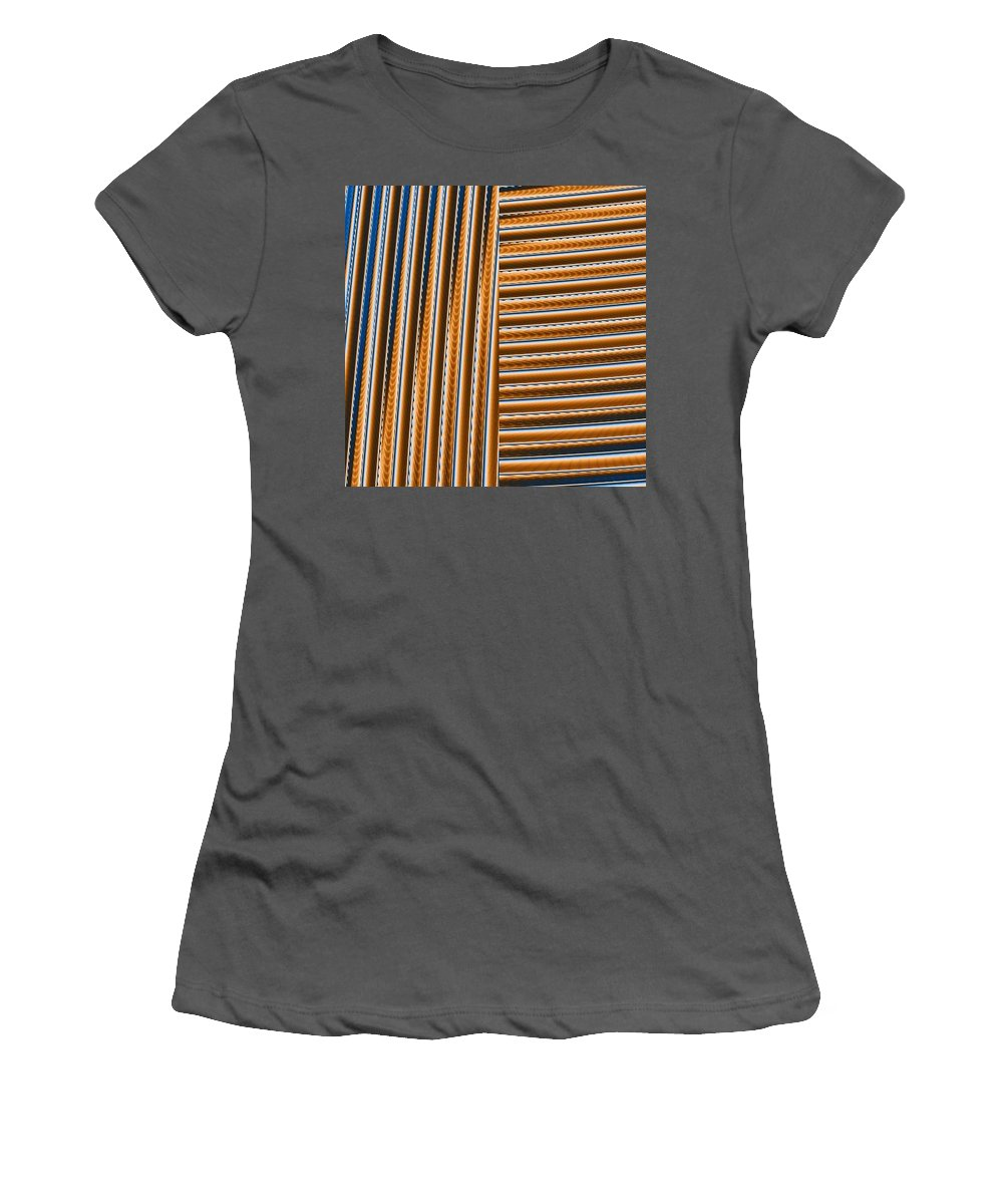 Digital Art Women's T-Shirt (Athletic Fit) featuring the digital art Duality I by Dragica Micki Fortuna