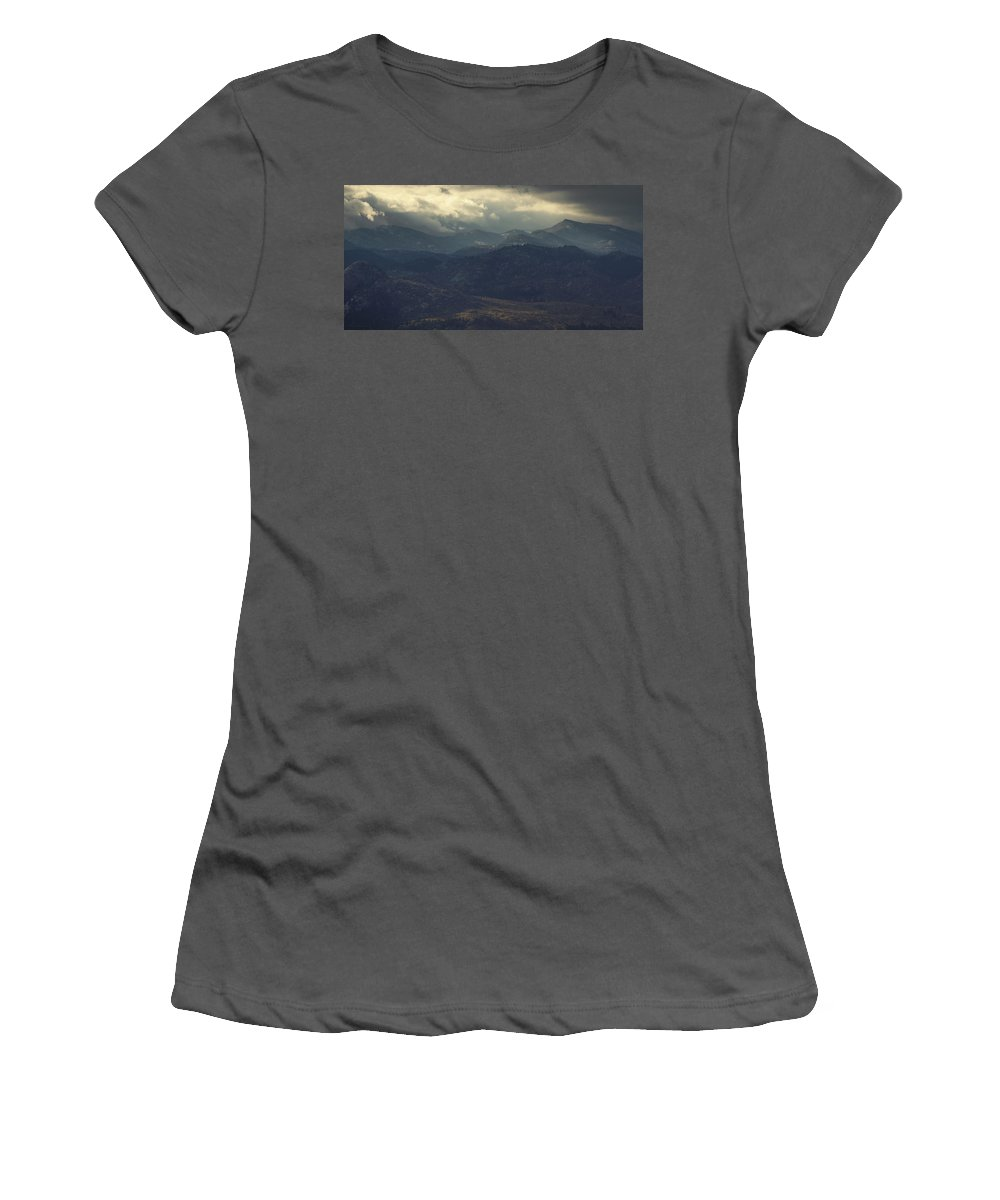 Dusks Women's T-Shirt (Athletic Fit) featuring the photograph Dusk's Arrival by Brian Gustafson