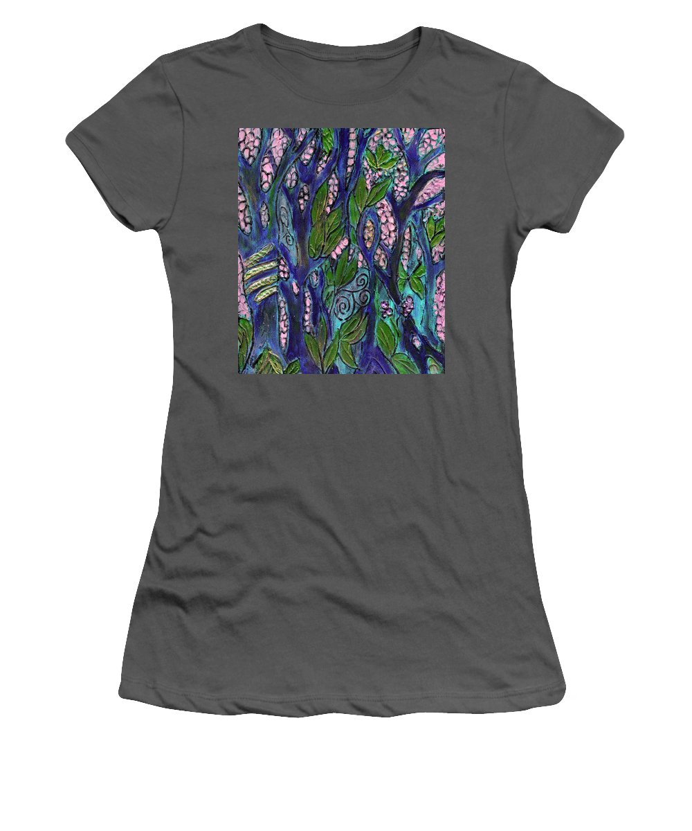 Garden Of Eden Women's T-Shirt (Athletic Fit) featuring the painting Eden by Wayne Potrafka