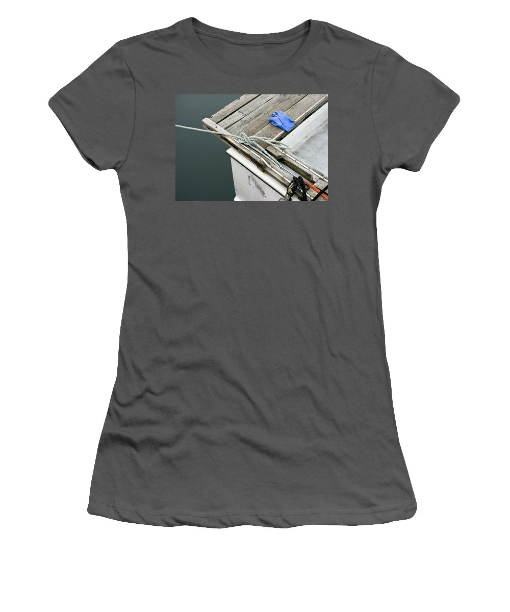 Edgartown Women's T-Shirt (Athletic Fit) featuring the photograph Edgartown Fishing Boat by Charles Harden