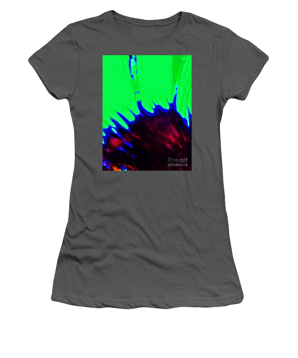 Edge Women's T-Shirt (Athletic Fit) featuring the painting Edge Of Time And Space by Eric Schiabor