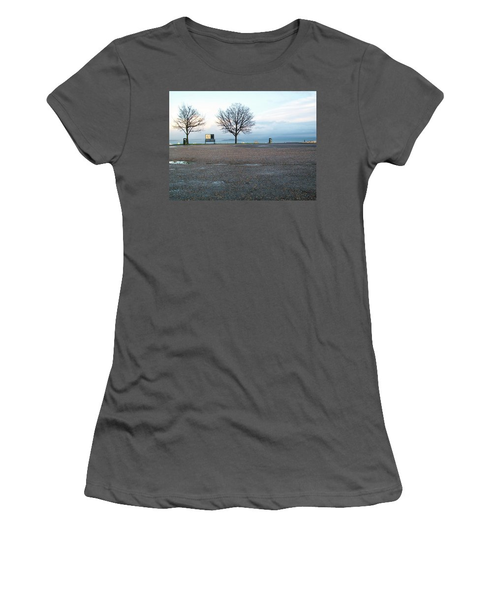 Photograph Women's T-Shirt (Athletic Fit) featuring the photograph Edinburgh - Two Trees At Caption Hill by Munir Alawi