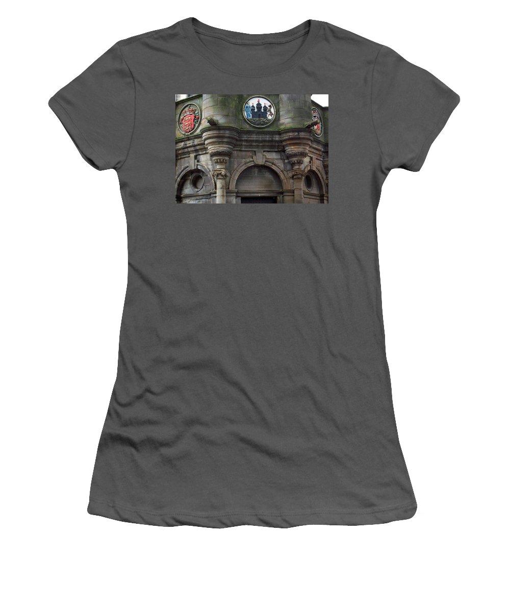 Scotland Women's T-Shirt (Athletic Fit) featuring the photograph Edinburgh Church by Munir Alawi
