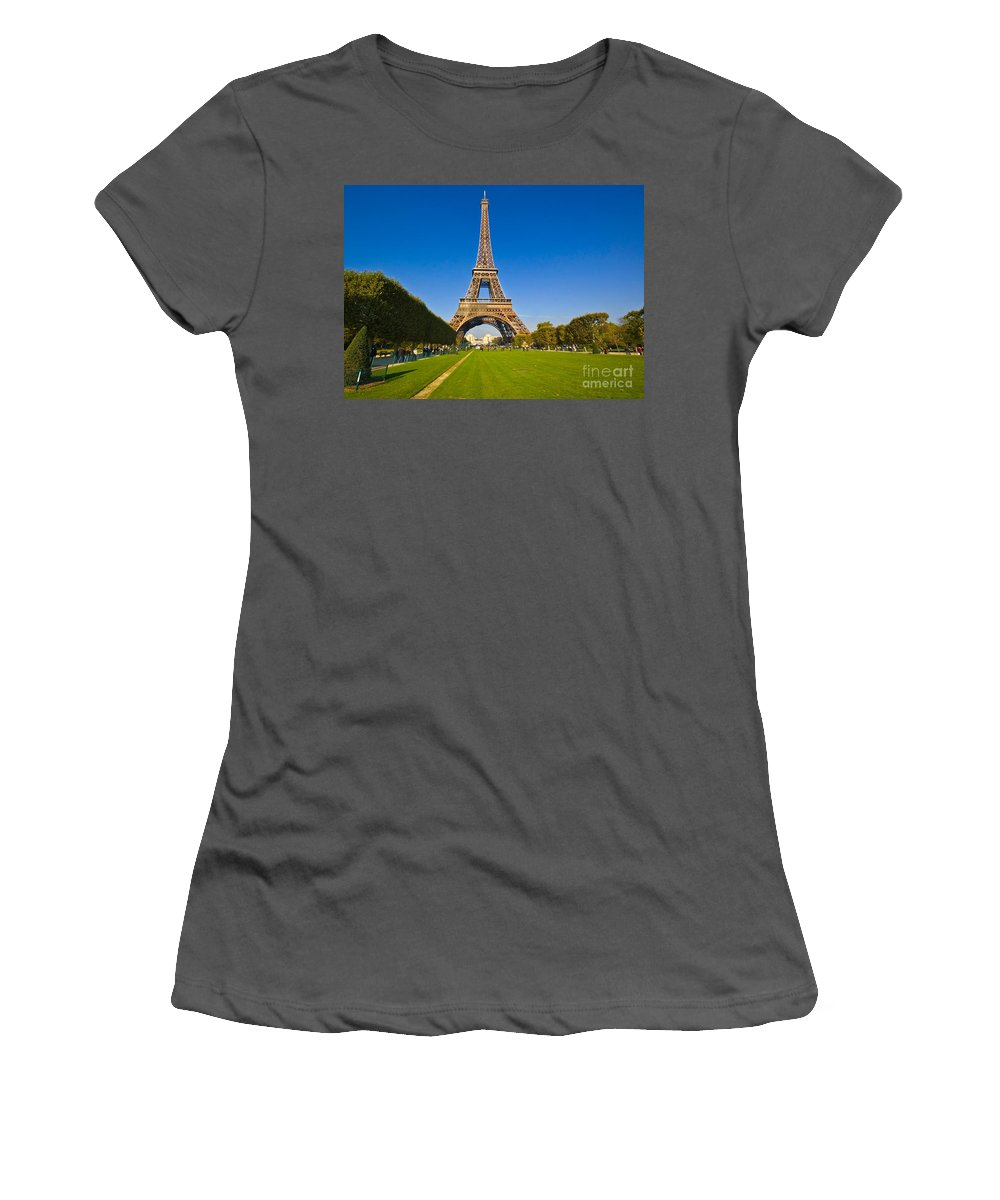 Women's T-Shirt (Athletic Fit) featuring the photograph Eiffel Tower by Charuhas Images