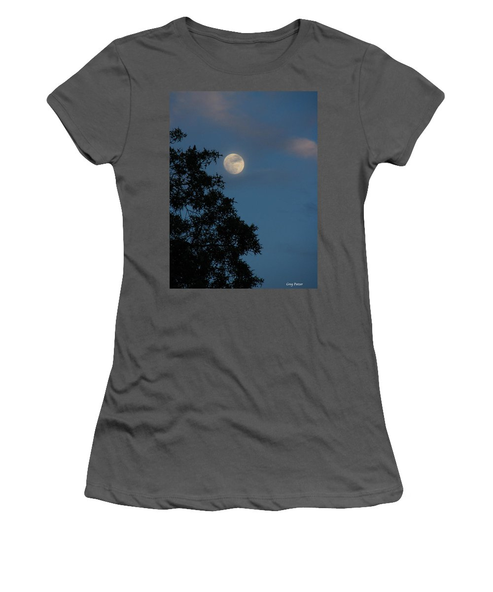 Patzer Women's T-Shirt (Athletic Fit) featuring the photograph Eight Thirty Two Pm by Greg Patzer