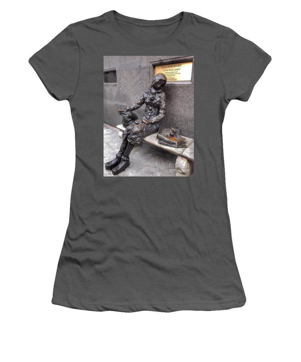 Eleanor Rigby Women's T-Shirt (Athletic Fit) featuring the photograph Eleanor Rigby by Joan-Violet Stretch