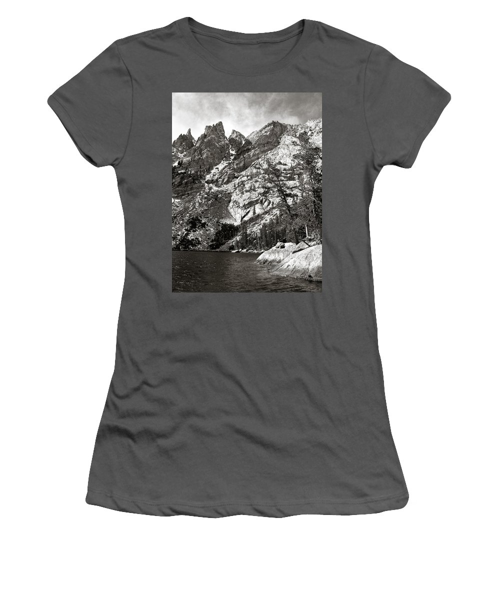 Emerald Lake Women's T-Shirt (Athletic Fit) featuring the photograph Emerald Lake Colorado by Marilyn Hunt
