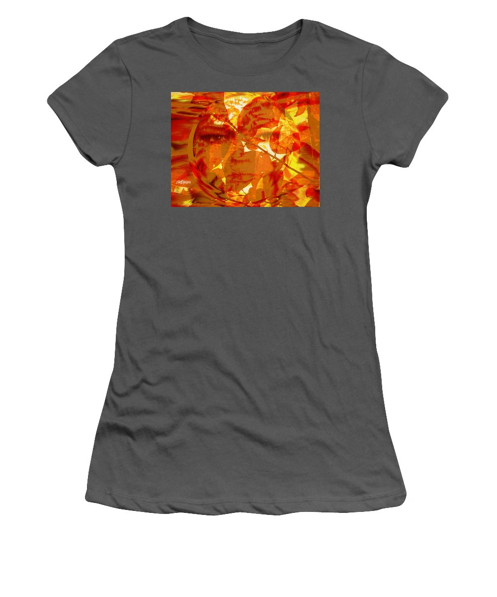 Oriental Women's T-Shirt (Athletic Fit) featuring the digital art Empress Of The Sun by Seth Weaver