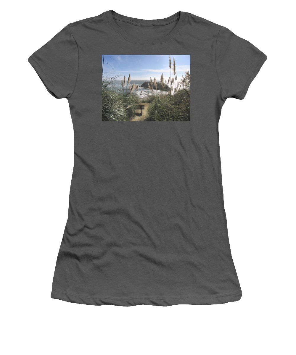 Ocean Women's T-Shirt (Athletic Fit) featuring the photograph Empty Seat by Karen W Meyer