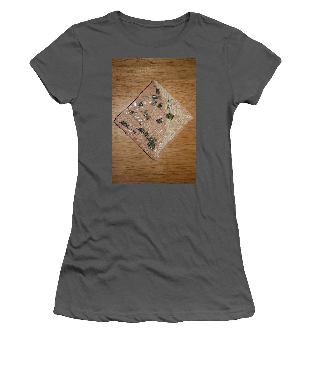 Jesus Women's T-Shirt (Athletic Fit) featuring the ceramic art Endearing - Tile by Gloria Ssali