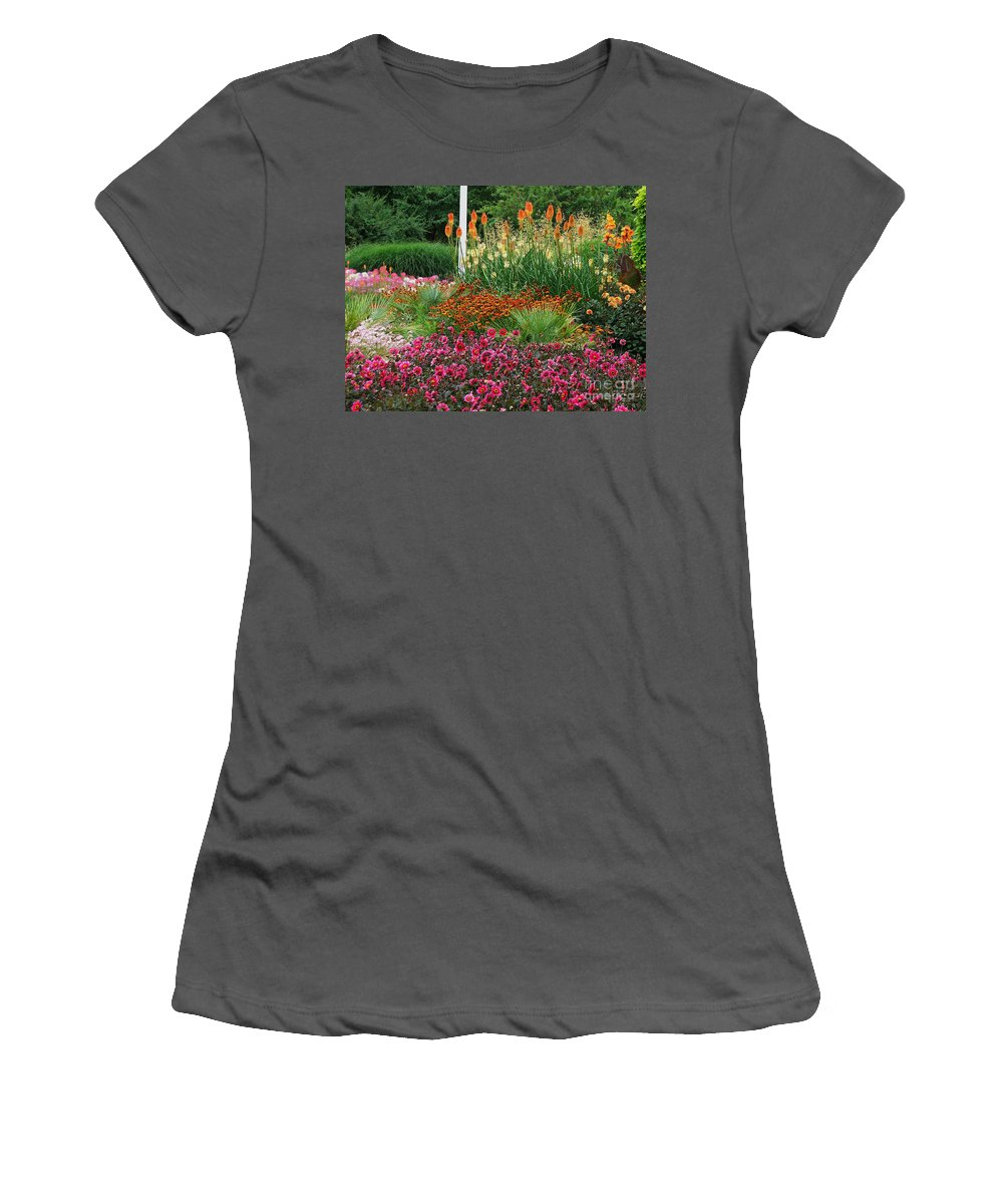 Daisy Women's T-Shirt (Athletic Fit) featuring the photograph English Garden by Heather Lennox
