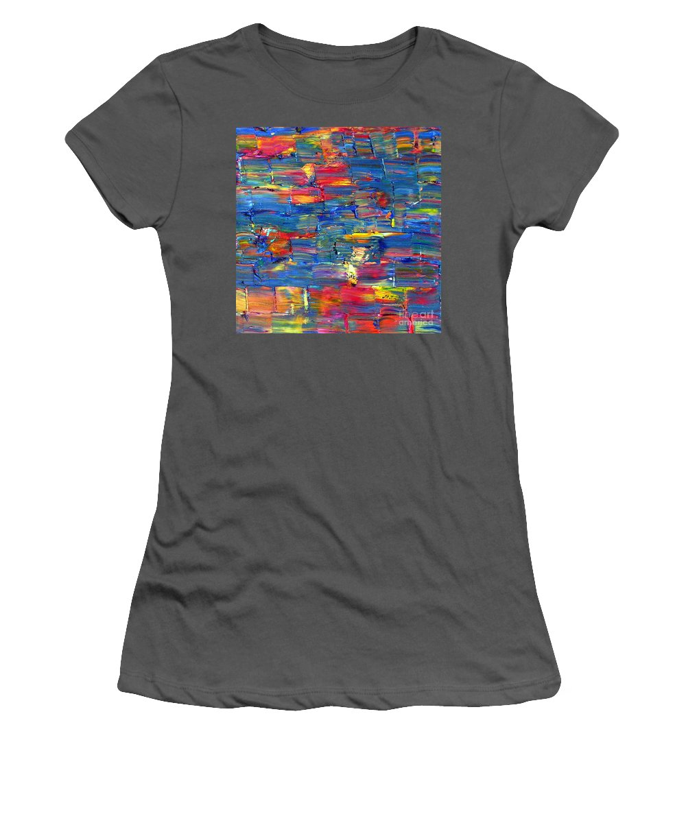 Entwined Women's T-Shirt (Athletic Fit) featuring the painting Entwined by Dawn Hough Sebaugh