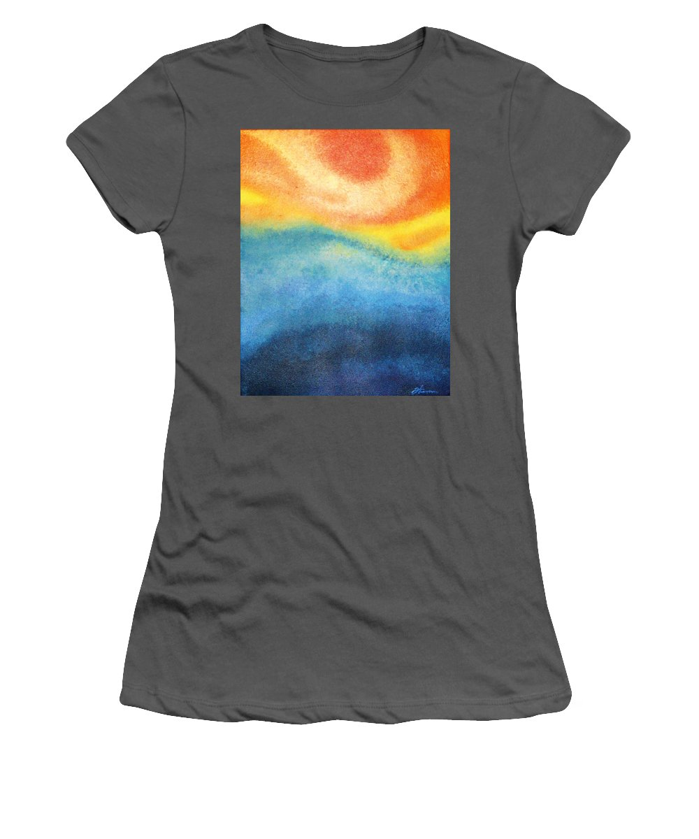 Escape Women's T-Shirt (Athletic Fit) featuring the painting Escape by Todd Hoover