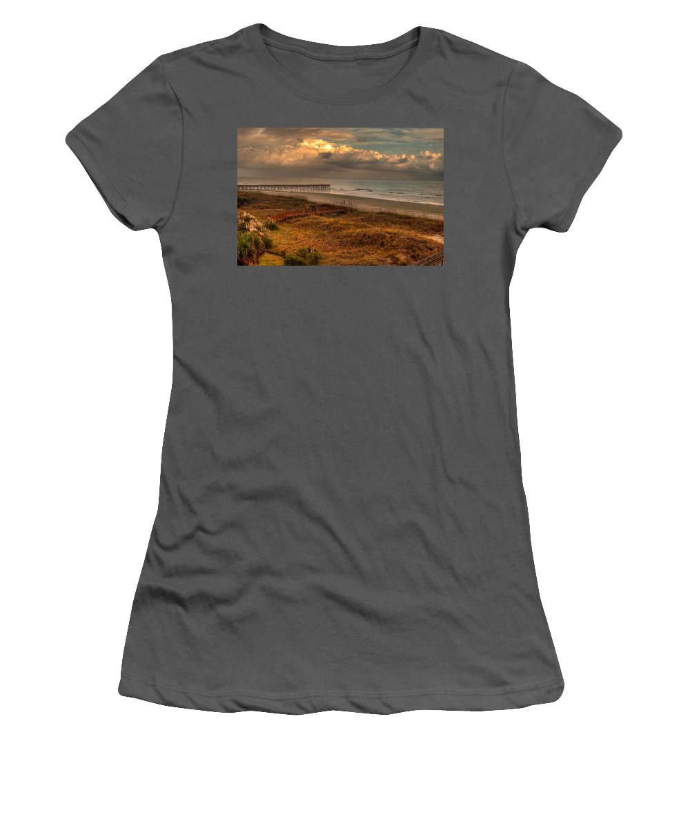Outdoors Women's T-Shirt (Athletic Fit) featuring the photograph Evening Skies by Paulette B Wright