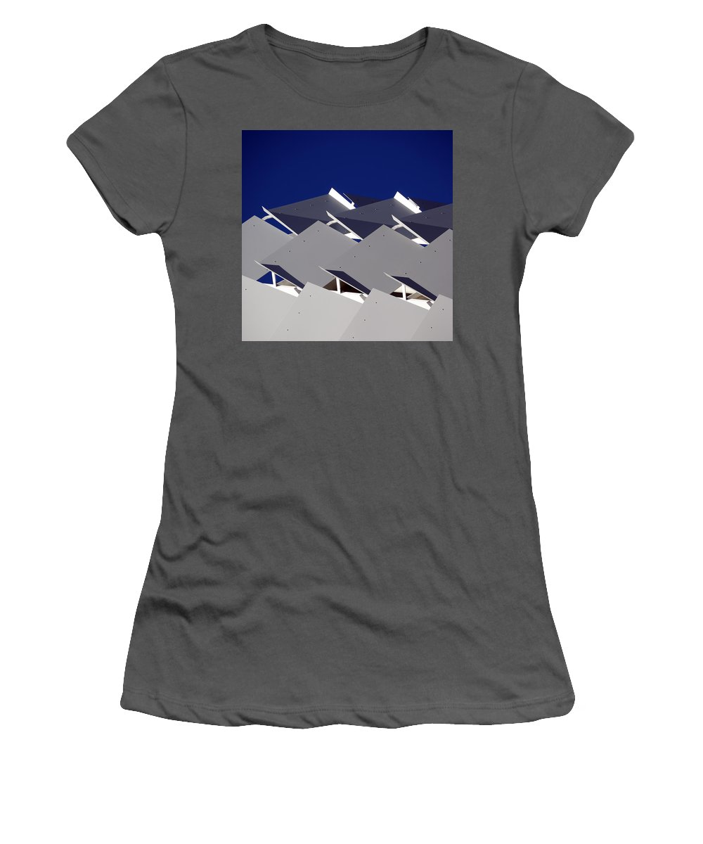 Architecture Women's T-Shirt (Athletic Fit) featuring the photograph Facade by Wayne Sherriff