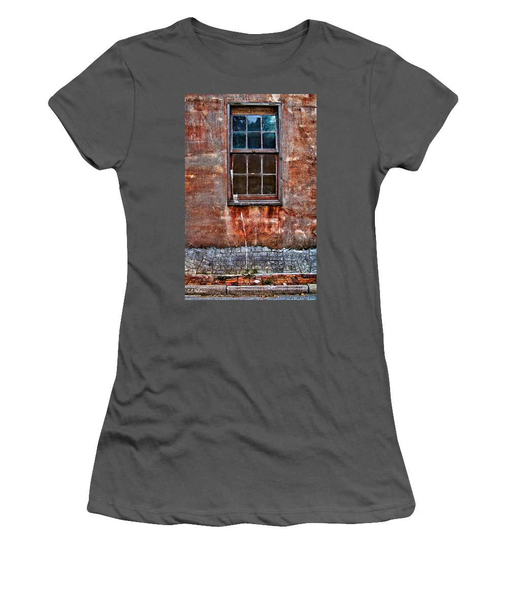 Window Women's T-Shirt (Athletic Fit) featuring the photograph Faded Over Time by Christopher Holmes