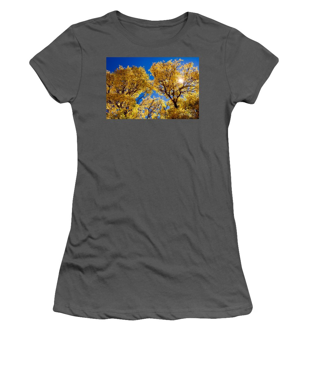 Leaves Women's T-Shirt (Athletic Fit) featuring the photograph Fall Foliage Near Ruidoso Nm by Matt Suess