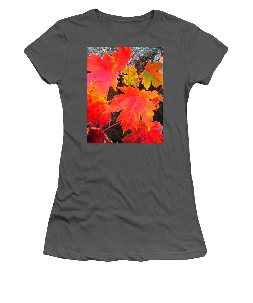 North America Women's T-Shirt (Athletic Fit) featuring the photograph Falltime ... by Juergen Weiss