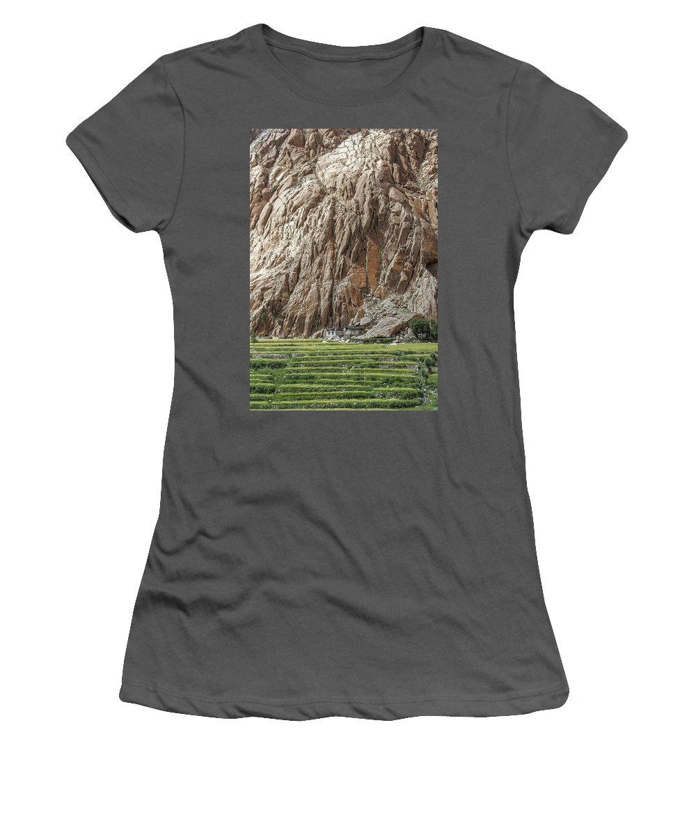 Farm Women's T-Shirt (Athletic Fit) featuring the photograph Farm House by Hitendra SINKAR