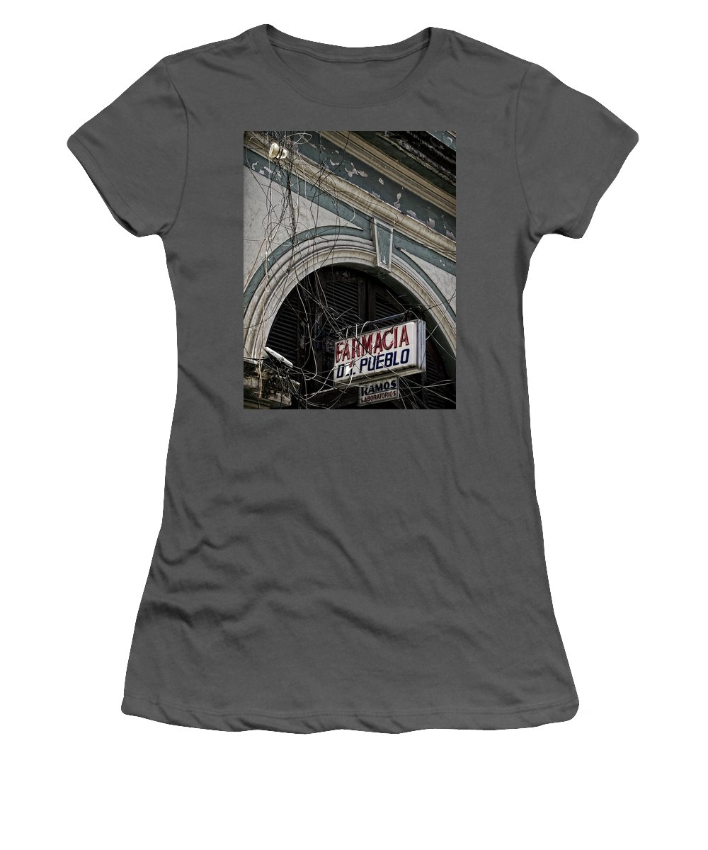 Latin America Women's T-Shirt (Athletic Fit) featuring the photograph Farmacia by Camera Or Bust