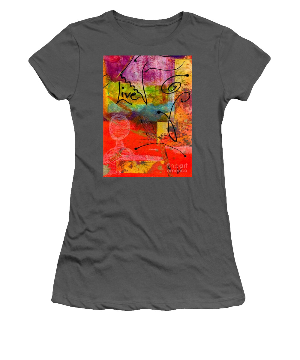Gretting Cards Women's T-Shirt (Athletic Fit) featuring the mixed media Feeling Alone And Invisible by Angela L Walker