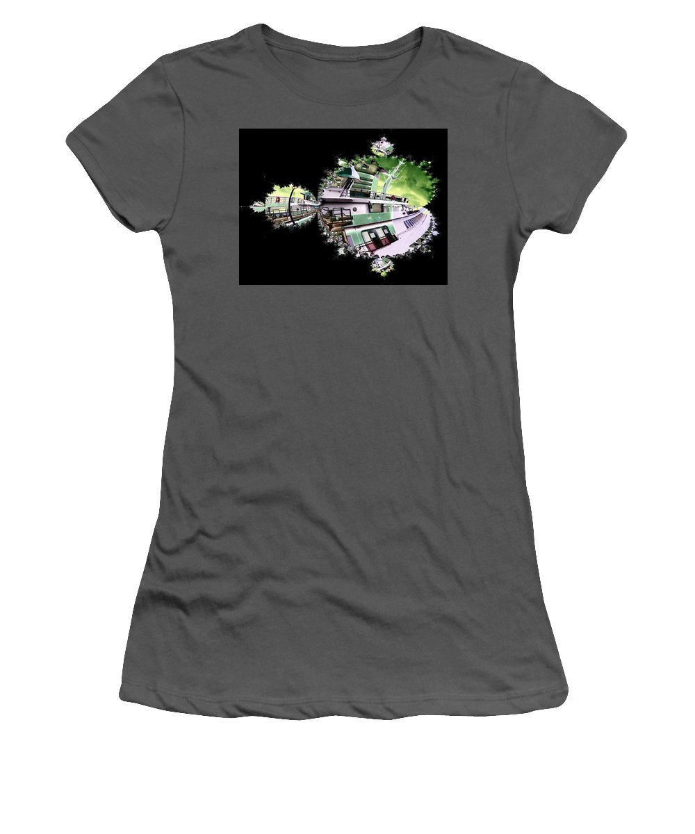Seattle Women's T-Shirt (Athletic Fit) featuring the digital art Ferry In Fractal by Tim Allen