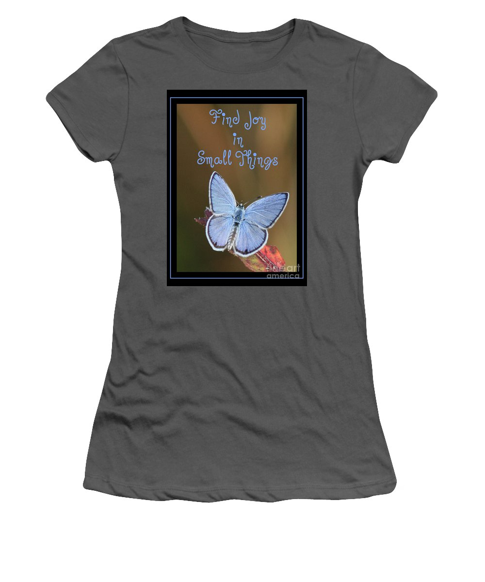 Happiness Women's T-Shirt (Athletic Fit) featuring the photograph Find Joy In Small Things by Carol Groenen