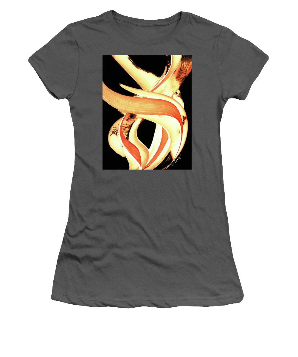 Fire Women's T-Shirt (Athletic Fit) featuring the painting Firewater 3 by Sharon Cummings
