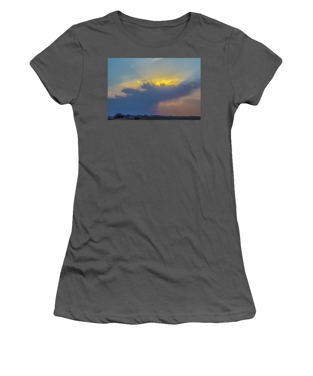 Nebraskasc Women's T-Shirt (Athletic Fit) featuring the photograph First Chase Of 2017 011 by NebraskaSC