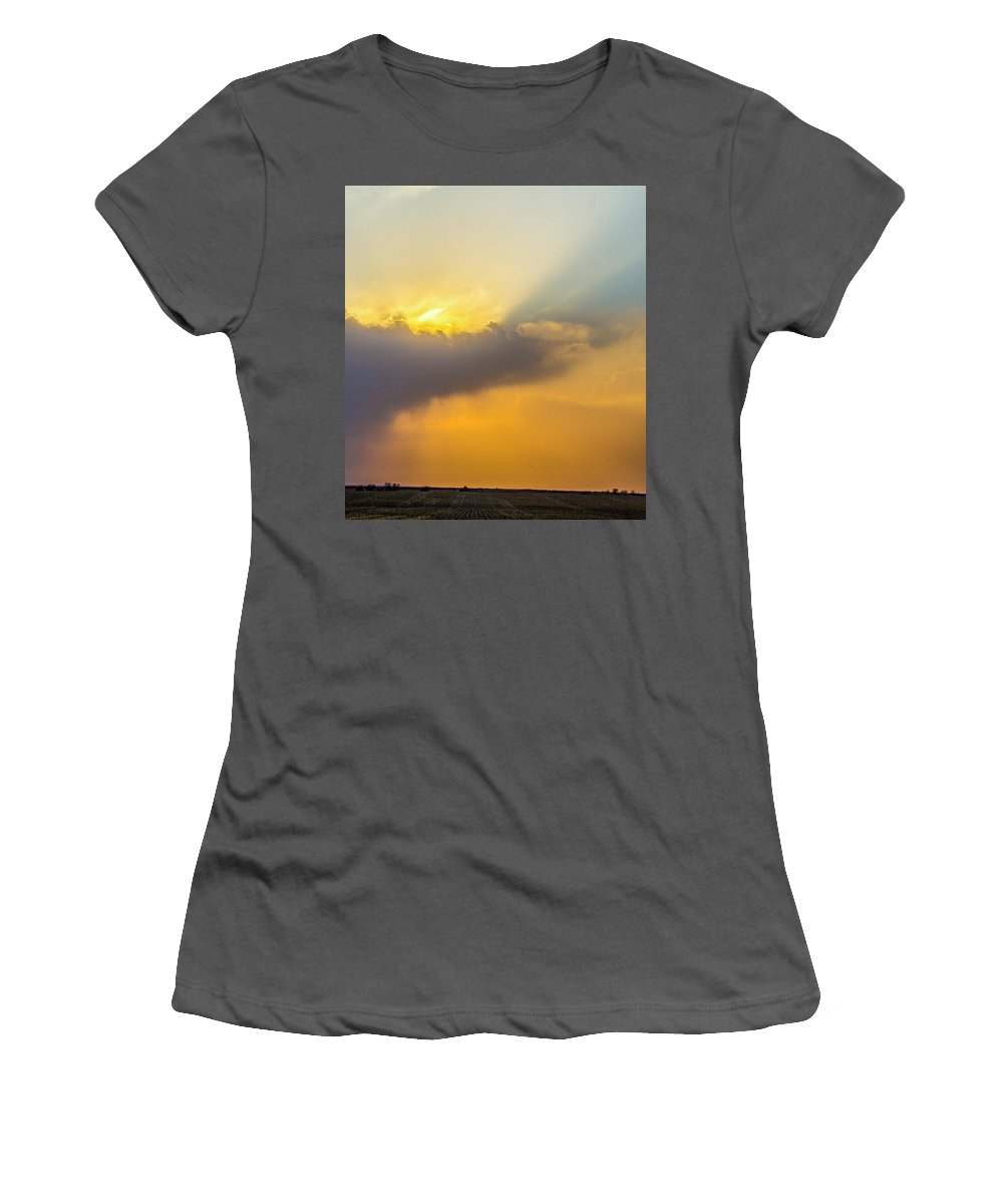 Nebraskasc Women's T-Shirt (Athletic Fit) featuring the photograph First Chase Of 2017 013 by NebraskaSC