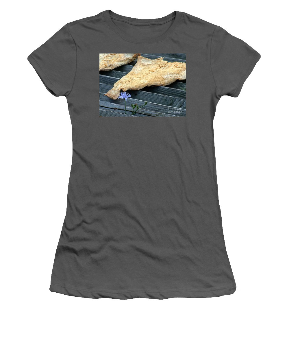 Fish Women's T-Shirt (Athletic Fit) featuring the photograph Fish And Flowers by RC DeWinter