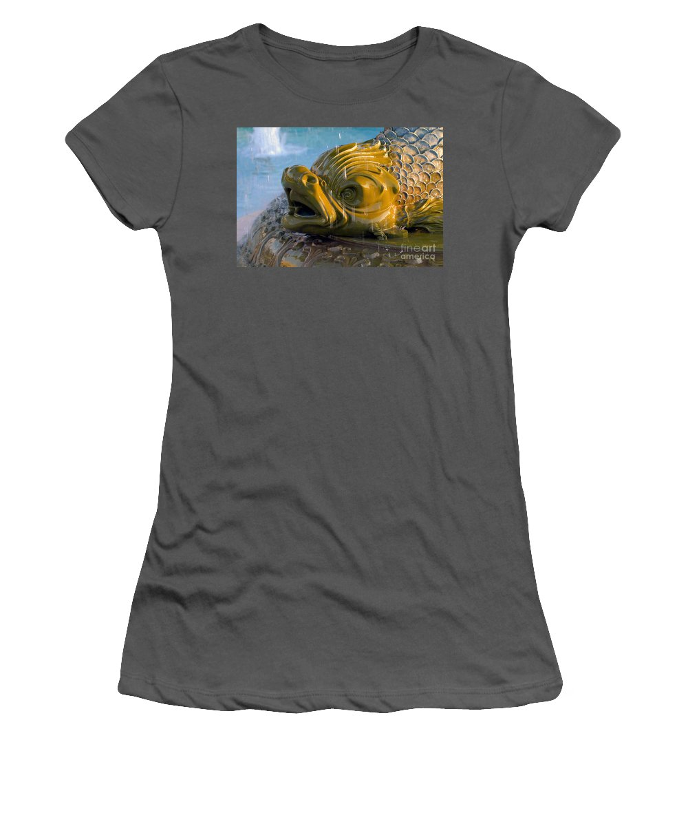 Fish Women's T-Shirt (Athletic Fit) featuring the photograph Fish Out Of Water by David Lee Thompson
